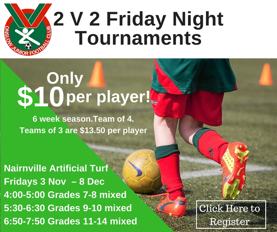 2 V 2 Friday Night Tournaments